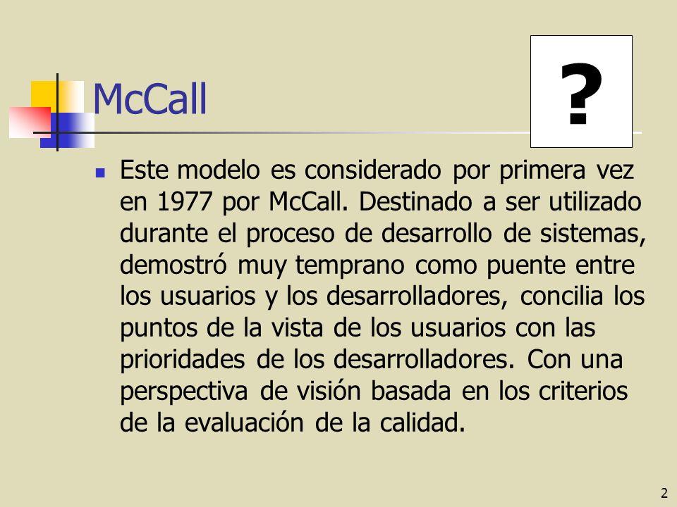 2 McCall Este modelo es considerado por primera vez en 1977 por McCall.
