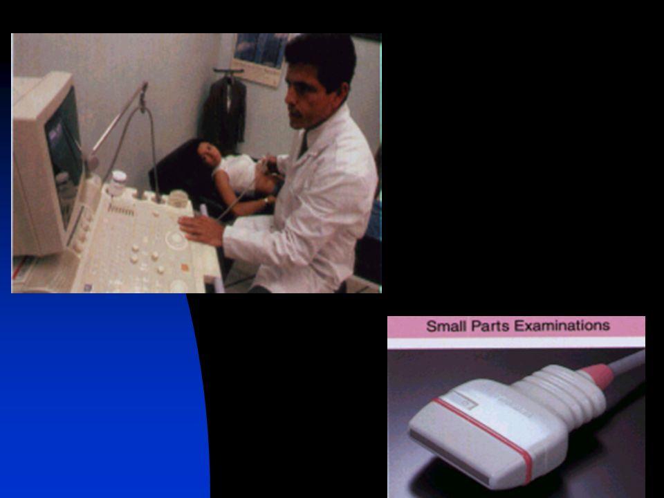 TECNICA DE EXAMEN : - Equipos de alta resolución, transductores lineales de 5 Mhz, 7.5 Mhz y 10 Mhz. - El estudio de la articulación del hombro debe s