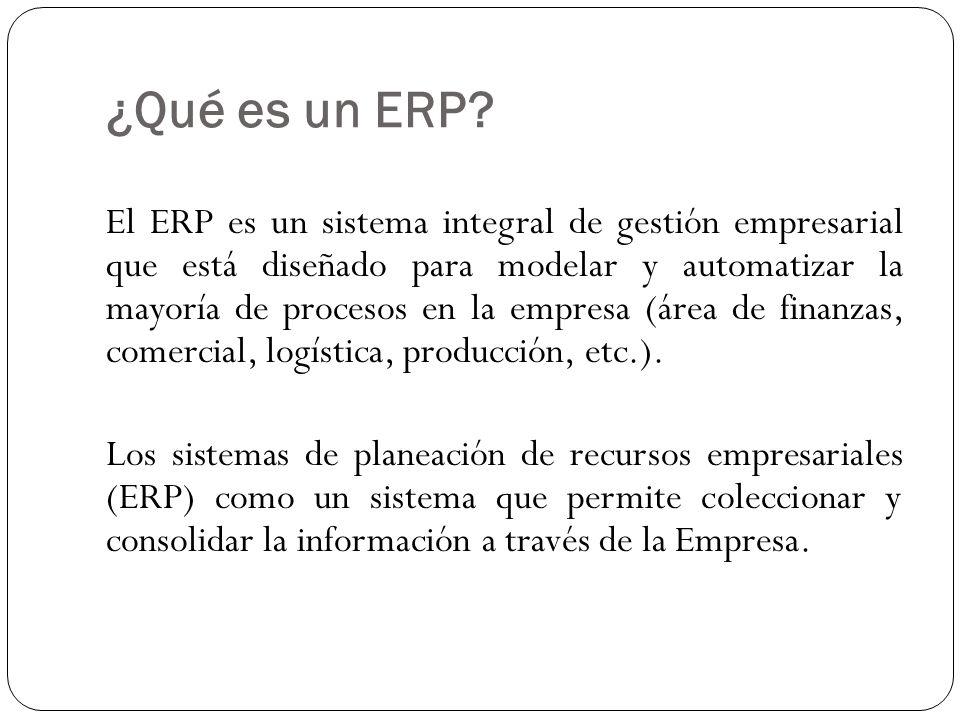 Su misión Es facilitar la planificación de todos los recursos de la empresa.