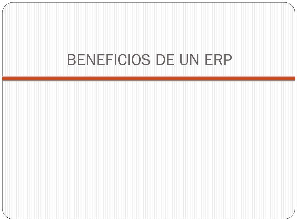 Es importante mencionar que las diferentes marcas creadoras de software ERP (SAP, Oracle, etc.) tiene sus beneficios característicos.