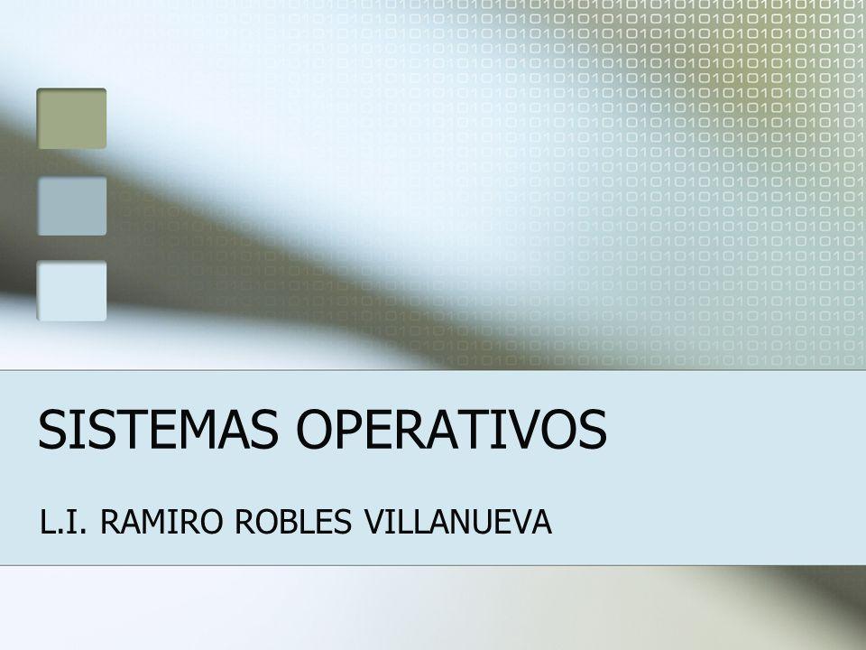 SISTEMAS OPERATIVOS L.I. RAMIRO ROBLES VILLANUEVA
