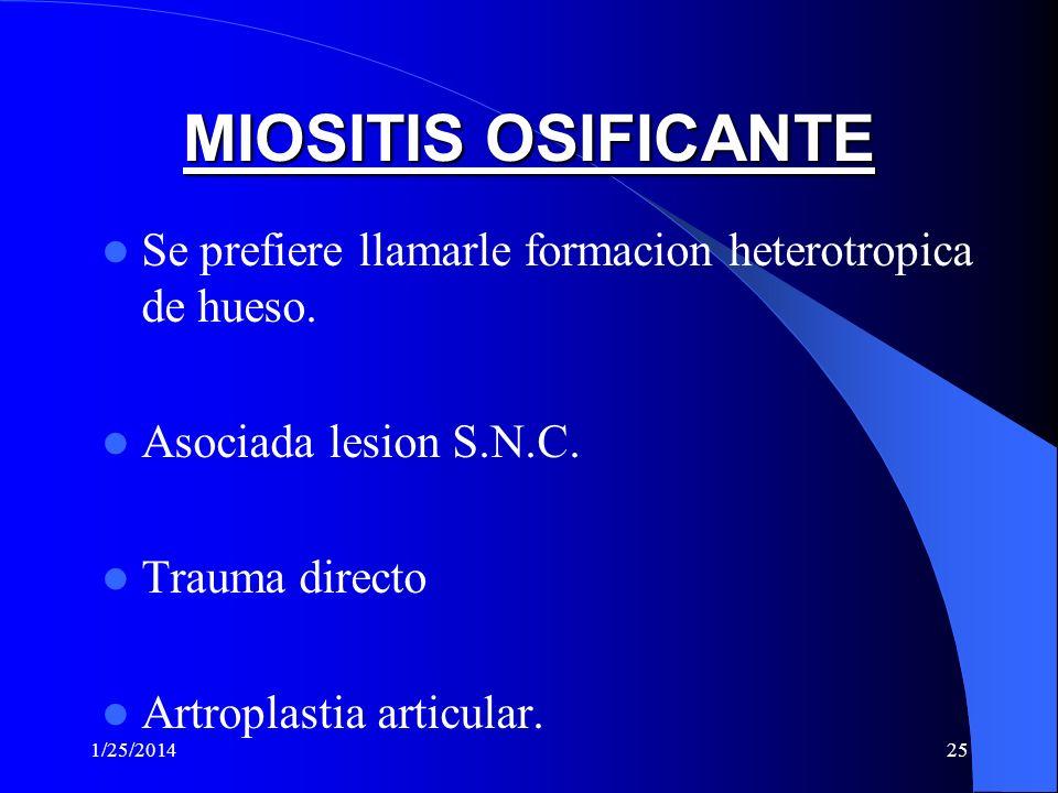 1/25/201424 COMPLICACIONES DE RUPTURA Fibrosis muscular o cicatrizacion.
