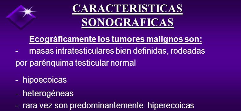 Los tumores de células no germinales 5% restante: - Células Sertoli - Células de Leyding o tejido mesenquimal