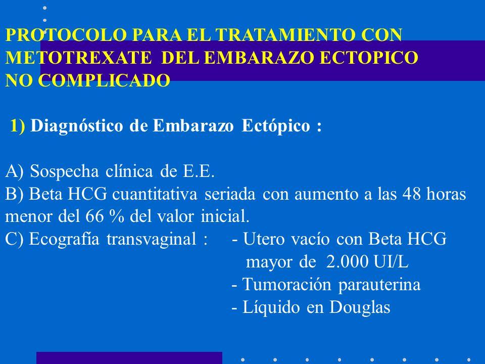 2) E.E.no complicado : hemodinámicamente estable y/o con líquido en Douglas menor de 300 cc.