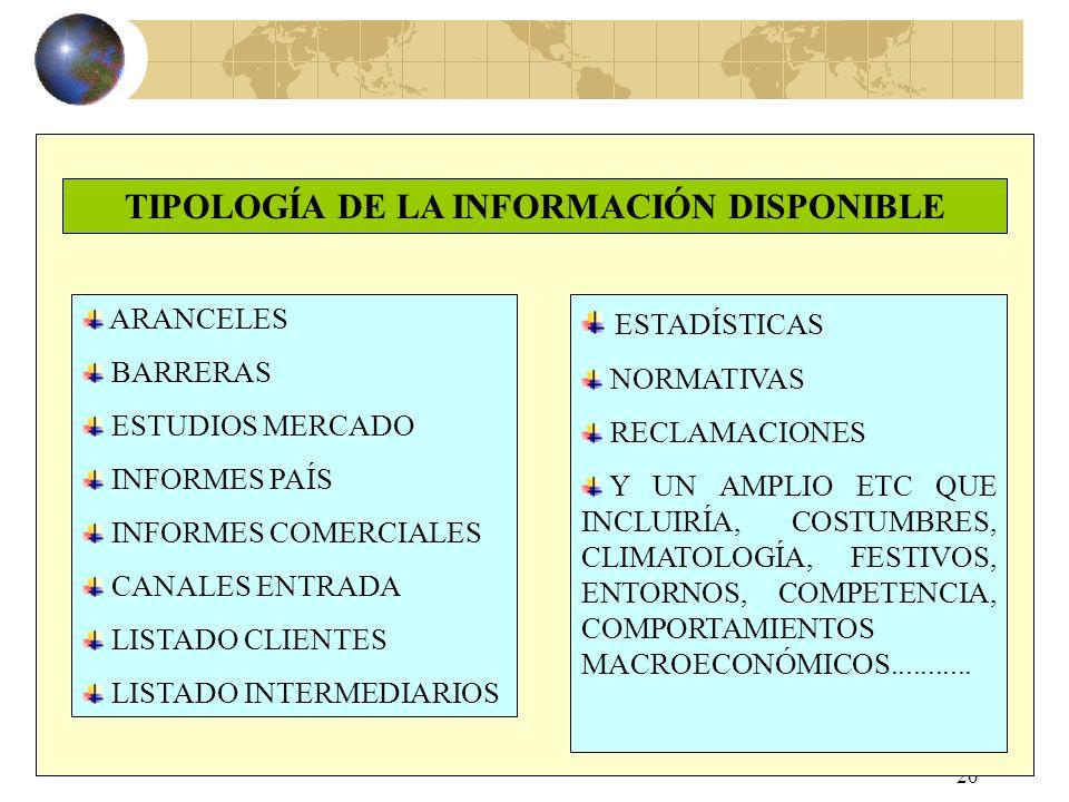 19 RED DE OFECOMES PORTAL ICEX (. WWW.ICEX ES). WWW.ICEX ES REVISTA EL EXPORTADOR BECE (CID ANDALUCÍA) SEMINARIOS ESPECIALIZADOS CATALOGO PUBLICACIONE