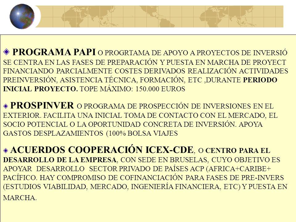 26 AREA DE LA INVERSIÓN Y COOPERACIÓN EMPRESARIAL ENCUENTROS EMPRESARIALES O REUNIONES ENTRE EMPRESAS ESPAÑOLAS Y EXTRANJERAS PARA HACER NEGOCIOS DE I