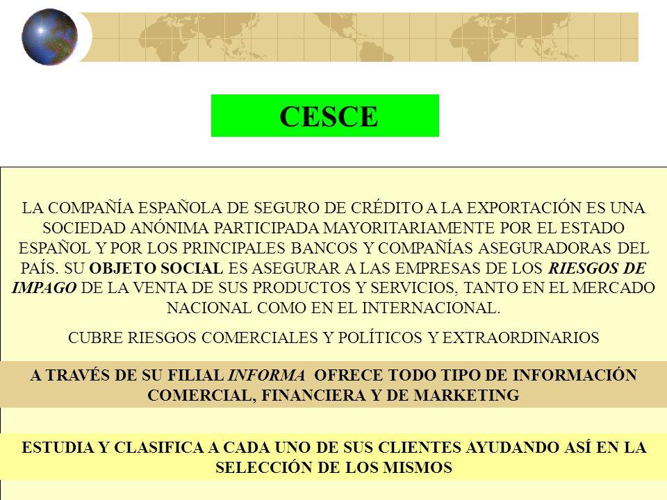 31 EMPRESAS PÚBLICAS ESPAÑOLAS QUE OPERAN EN EL CONTEXTO DE LA INTERNACIONALIZACIÓN (COBERTURA DE RIESGOS E INVERSIONES EXTERIORES)