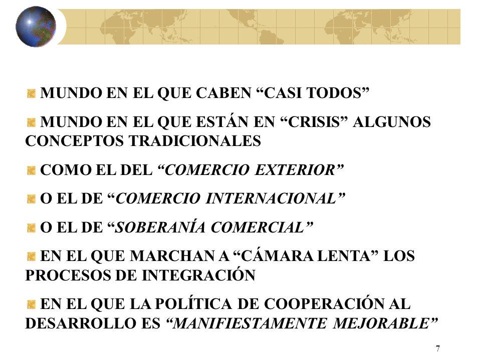 6 LA INTERNACIONALIZACIÓN SUPONE, DESDE LUEGO LA INMERSIÓN DE LA EMPRESA.................... EN EL MUNDO DE LO DESCONOCIDO INCLUSO DE LO ADVERSO/HOSTI