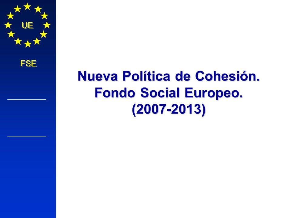 Política Regional COMISIÓN EUROPEA UE FSE Nueva Política de Cohesión. Fondo Social Europeo. (2007-2013)