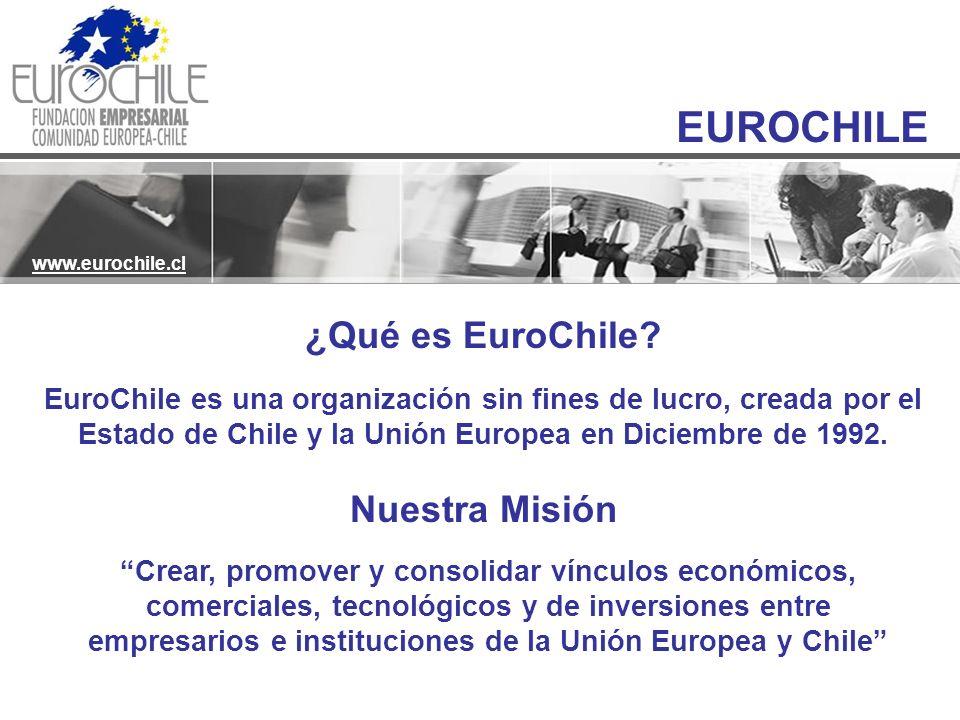 EUROCHILE www.eurochile.cl ¿Qué es EuroChile? EuroChile es una organización sin fines de lucro, creada por el Estado de Chile y la Unión Europea en Di