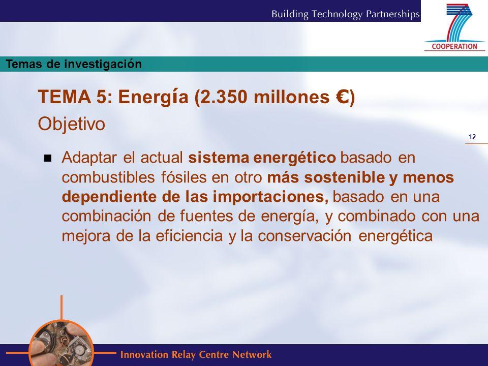 12 Adaptar el actual sistema energético basado en combustibles fósiles en otro más sostenible y menos dependiente de las importaciones, basado en una