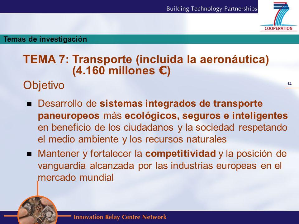 14 Desarrollo de sistemas integrados de transporte paneuropeos más ecológicos, seguros e inteligentes en beneficio de los ciudadanos y la sociedad res