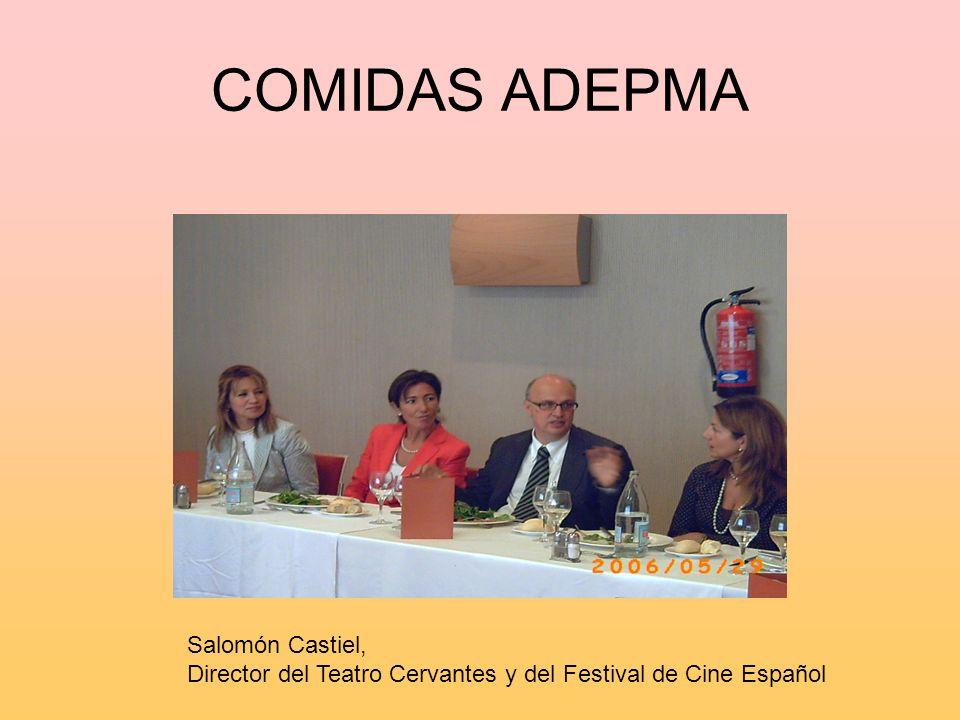 COMIDAS ADEPMA Salomón Castiel, Director del Teatro Cervantes y del Festival de Cine Español