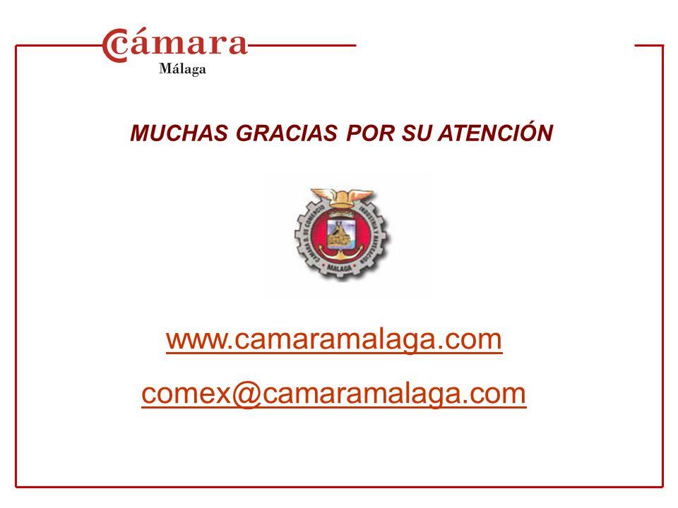 MUCHAS GRACIAS POR SU ATENCIÓN w ww.camaramalaga.com comex@camaramalaga.com