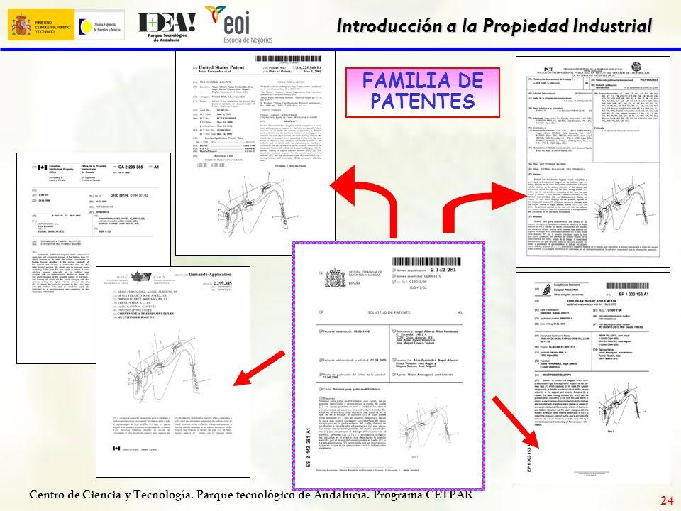 Centro de Ciencia y Tecnología. Parque tecnológico de Andalucía. Programa CETPAR Introducción a la Propiedad Industrial 23 ejemplo de patente
