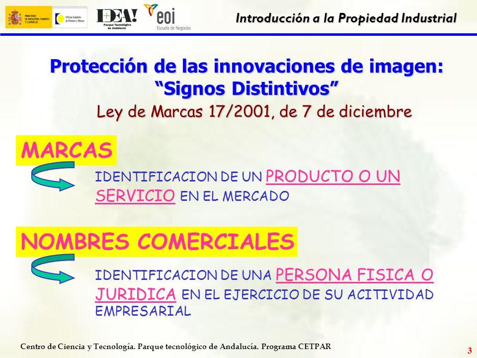 Centro de Ciencia y Tecnología. Parque tecnológico de Andalucía. Programa CETPAR Introducción a la Propiedad Industrial 2 DERECHO de las CREACIONES DE