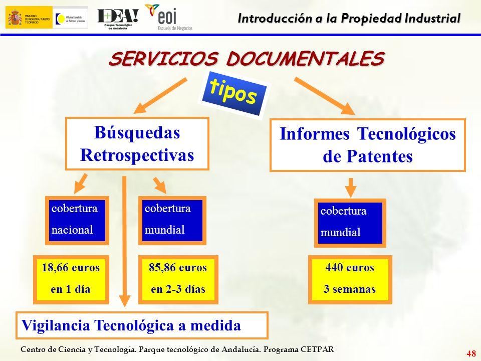Centro de Ciencia y Tecnología. Parque tecnológico de Andalucía. Programa CETPAR Introducción a la Propiedad Industrial 47 DATOS BIBLIOGRÁFICOS ACCESO