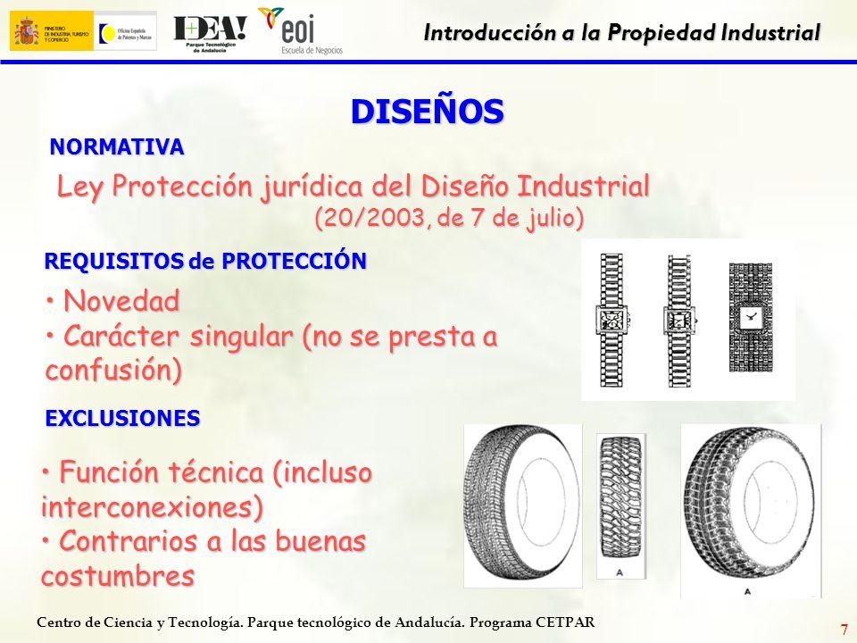 Centro de Ciencia y Tecnología. Parque tecnológico de Andalucía. Programa CETPAR Introducción a la Propiedad Industrial 6 ¿DURACIÓN DE LA MARCA? 10 AÑ