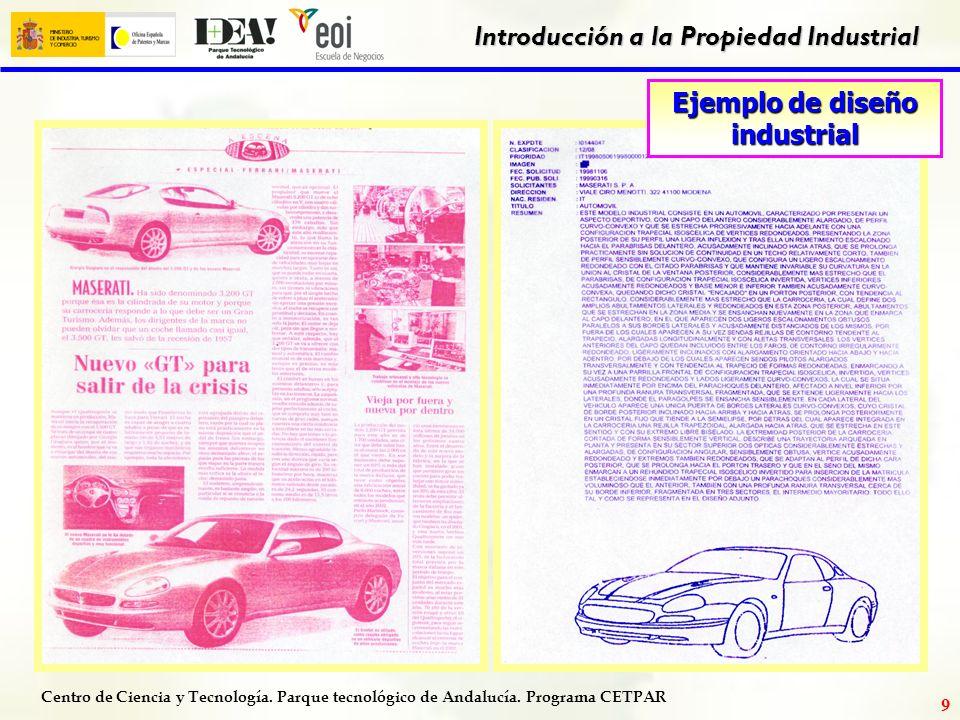 Centro de Ciencia y Tecnología. Parque tecnológico de Andalucía. Programa CETPAR Introducción a la Propiedad Industrial 8 Datos del Expediente Número