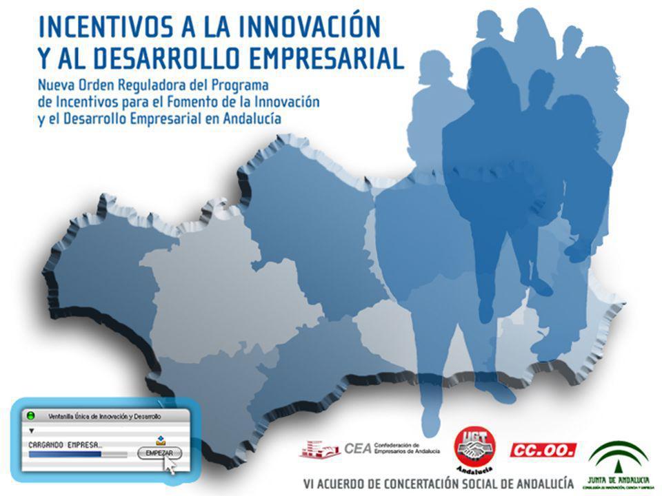 OBJETIVOS CLAVE DE LA NUEVA ORDEN DE INCENTIVOS Hacer gravitar sobre la Innovación el sistema de incentivos a la actividad empresarial en Andalucía.
