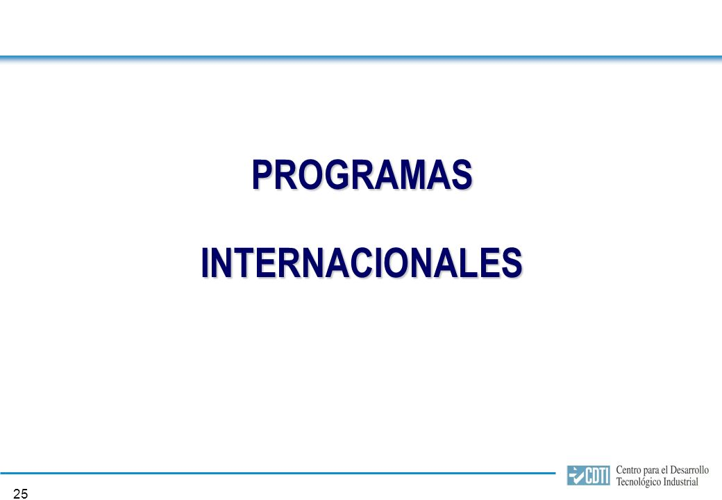 24 Programas Nacionales Proyectos CDTI 2005