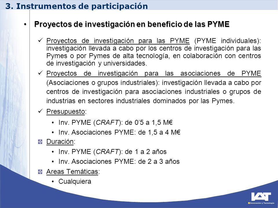 Proyectos de investigación en beneficio de las PYMEProyectos de investigación en beneficio de las PYME Proyectos de investigación para las PYME (PYME