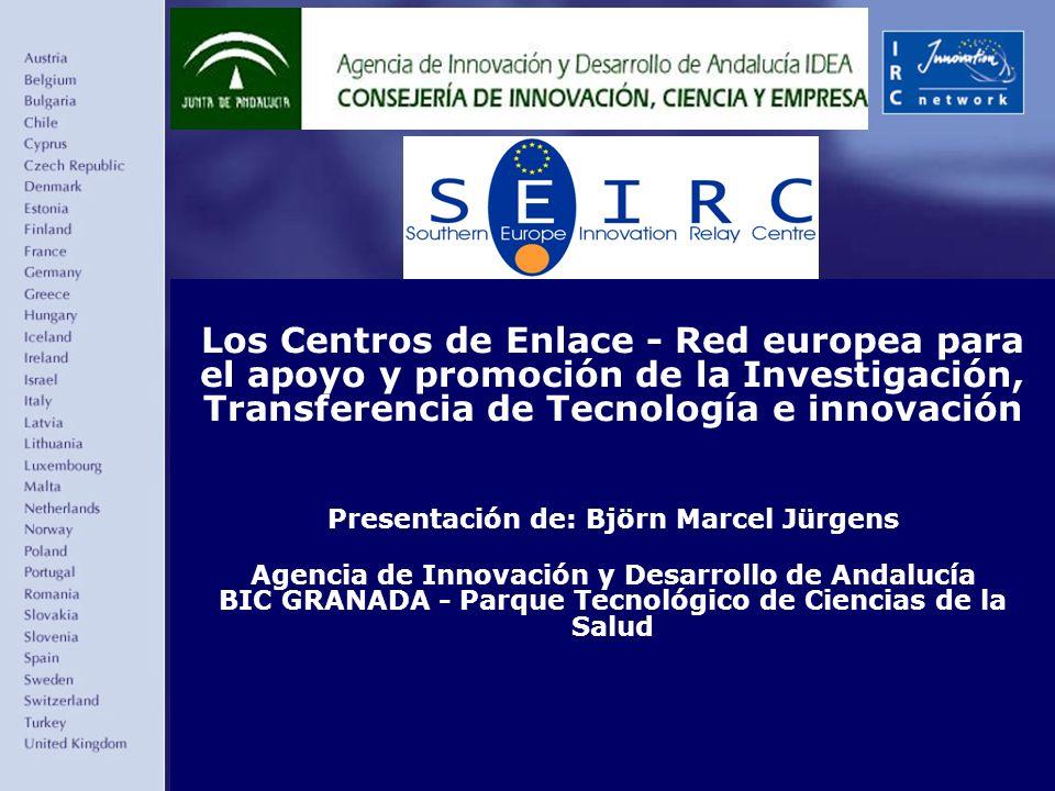 Más información: Centro de Enlace SEIRC / CESEAND Pagina Web: www.ceseand.cica.eswww.ceseand.cica.es E-Mail: ceseand@ceseand.cica.es –Andalucía Oriental: BIC EURONOVA Juan López Peñalver, s/n - PTA - 29590 Campanillas (Málaga) Tel: 95 1010520 - Fax: 95 1010526 –Andalucía Occidental: BIC EUROCEI Autovía Sevilla-Coria, Km.