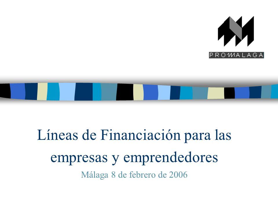 Líneas de Financiación para las empresas y emprendedores Málaga 8 de febrero de 2006