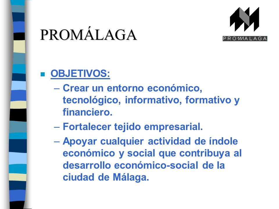 n OBJETIVOS: –Crear un entorno económico, tecnológico, informativo, formativo y financiero.