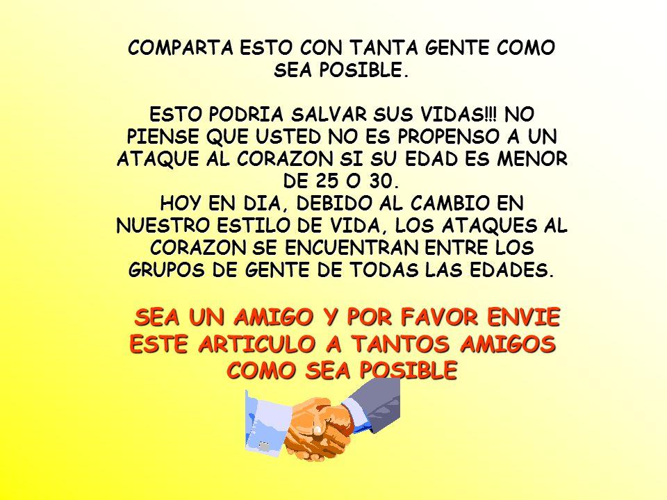COMPARTA ESTO CON TANTA GENTE COMO SEA POSIBLE.ESTO PODRIA SALVAR SUS VIDAS!!.
