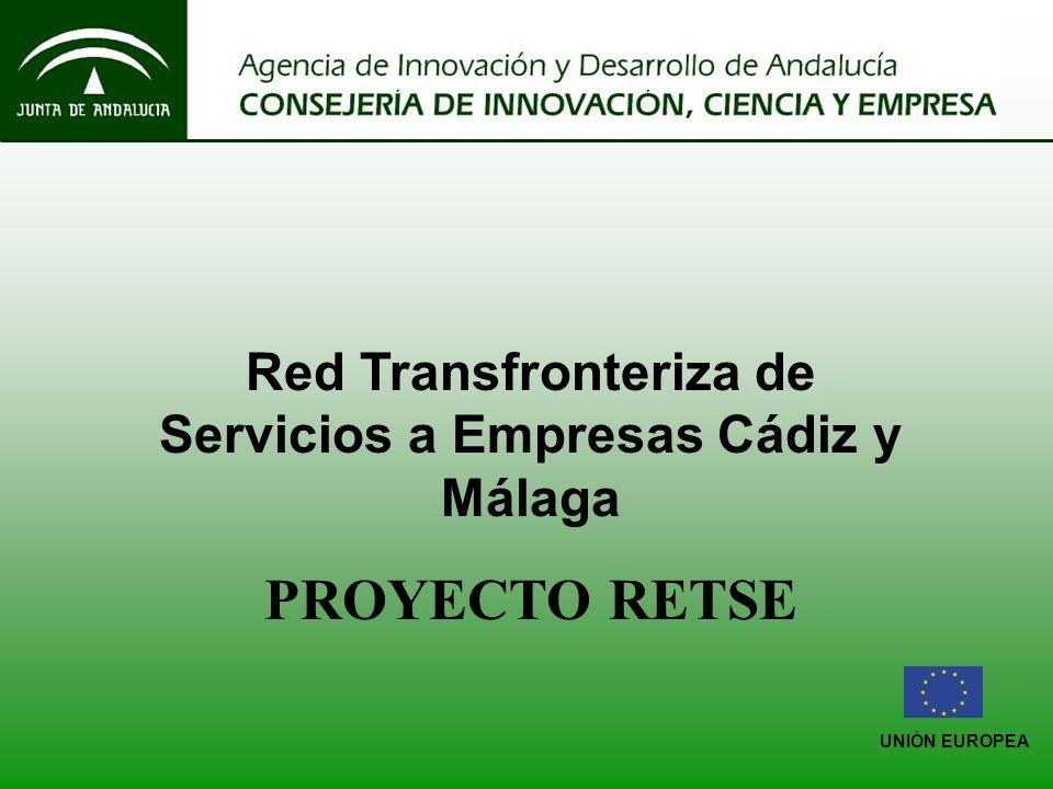 UNIÓN EUROPEA Red Transfronteriza de Servicios a Empresas Cádiz y Málaga PROYECTO RETSE