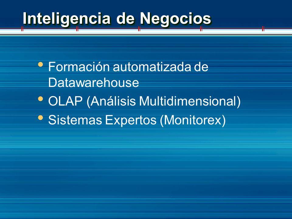 Inteligencia de Negocios Formación automatizada de Datawarehouse OLAP (Análisis Multidimensional) Sistemas Expertos (Monitorex)
