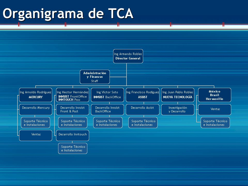 Organigrama de TCA