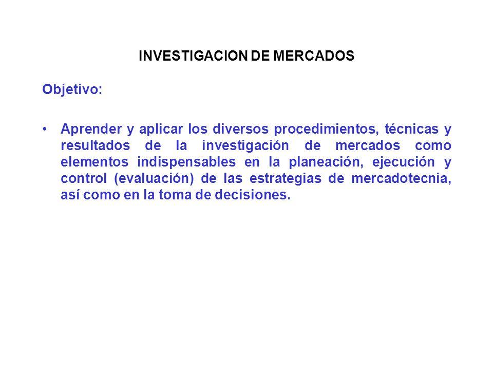 UNITEC INVESTIGACION DE MERCADOS II