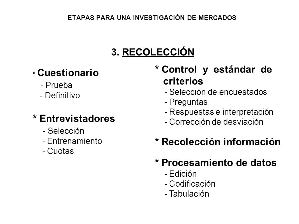 *Objetivos - Negocios - General - Específicos * Información * Investigación preliminar - Análisis de la situación - Estudios y fuentes 2. PLANEACIÓN *