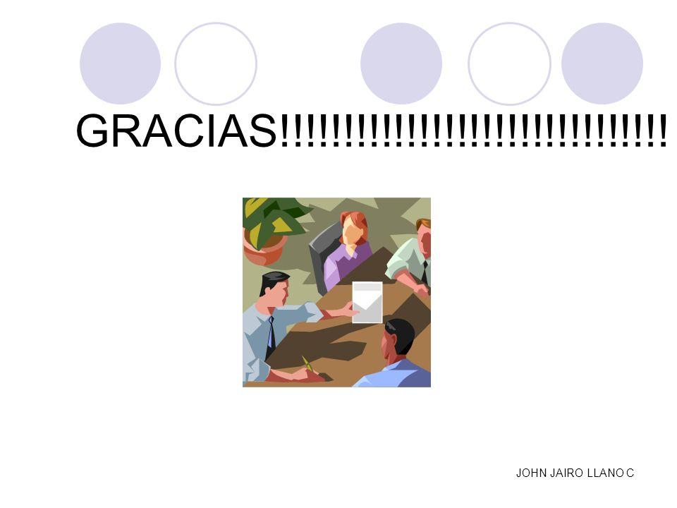 GRACIAS!!!!!!!!!!!!!!!!!!!!!!!!!!!!!!! JOHN JAIRO LLANO C