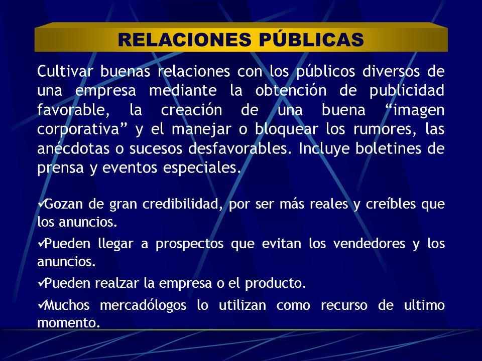 Cultivar buenas relaciones con los públicos diversos de una empresa mediante la obtención de publicidad favorable, la creación de una buena imagen cor