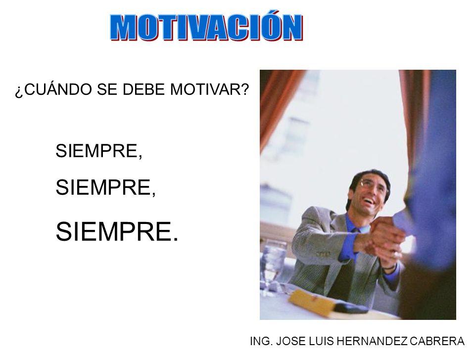¿PARA QUE SIRVE LA MOTIVACIÓN? ING. JOSE LUIS HERNANDEZ CABRERA PARA ALCANZAR METAS Y MEJORAR EL DESEMPEÑO LABORAL