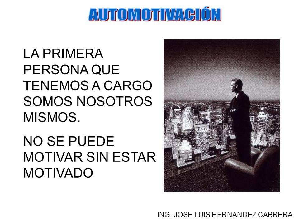 NO PUEDES DETENERTE A ESPERAR QUE OTRO TE EMPUJE A LA REALIZACIÓN DE TUS METAS, NADIE LAS CONOCE MEJOR QUE TU. ING. JOSE LUIS HERNANDEZ CABRERA