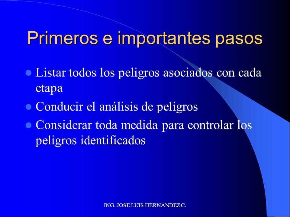 ING. JOSE LUIS HERNANDEZ C. Confirmacion in situ del diagrama Controlar corrección de información Controlar si alguna información importante no fue ol