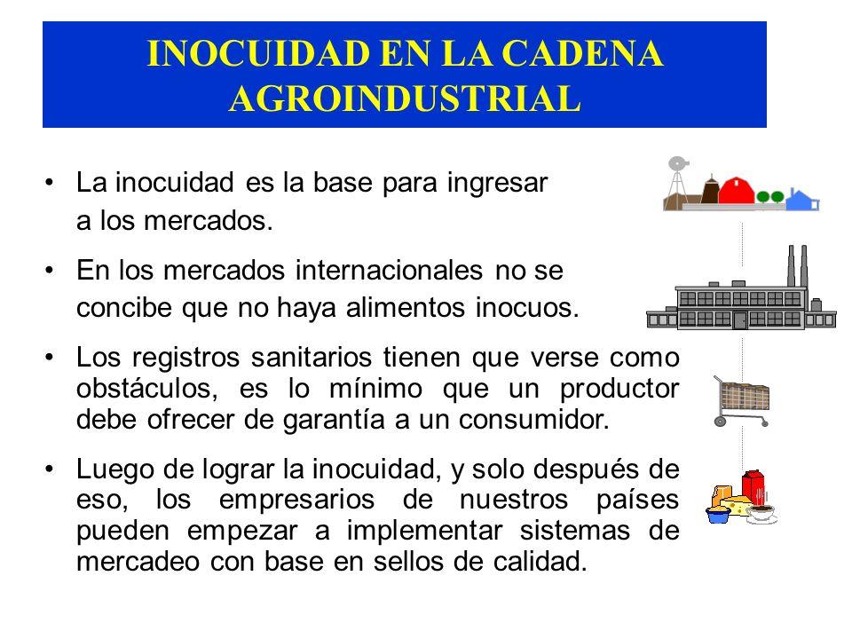 INOCUIDAD EN LA CADENA AGROINDUSTRIAL Las ETA persisten y son motivo de preocupación para los organismos de salud pública y para los consumidores Aunq