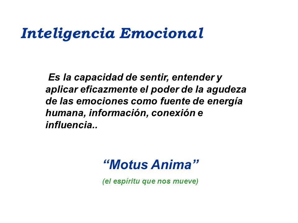 Es la capacidad de sentir, entender y aplicar eficazmente el poder de la agudeza de las emociones como fuente de energía humana, información, conexión