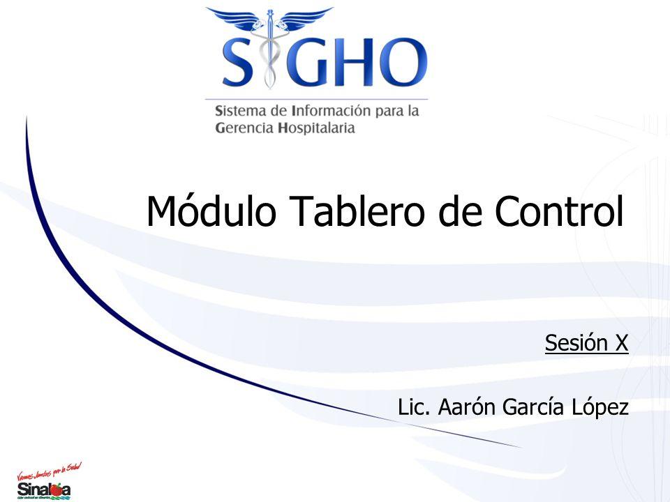 Módulo Tablero de Control Sesión X Lic. Aarón García López