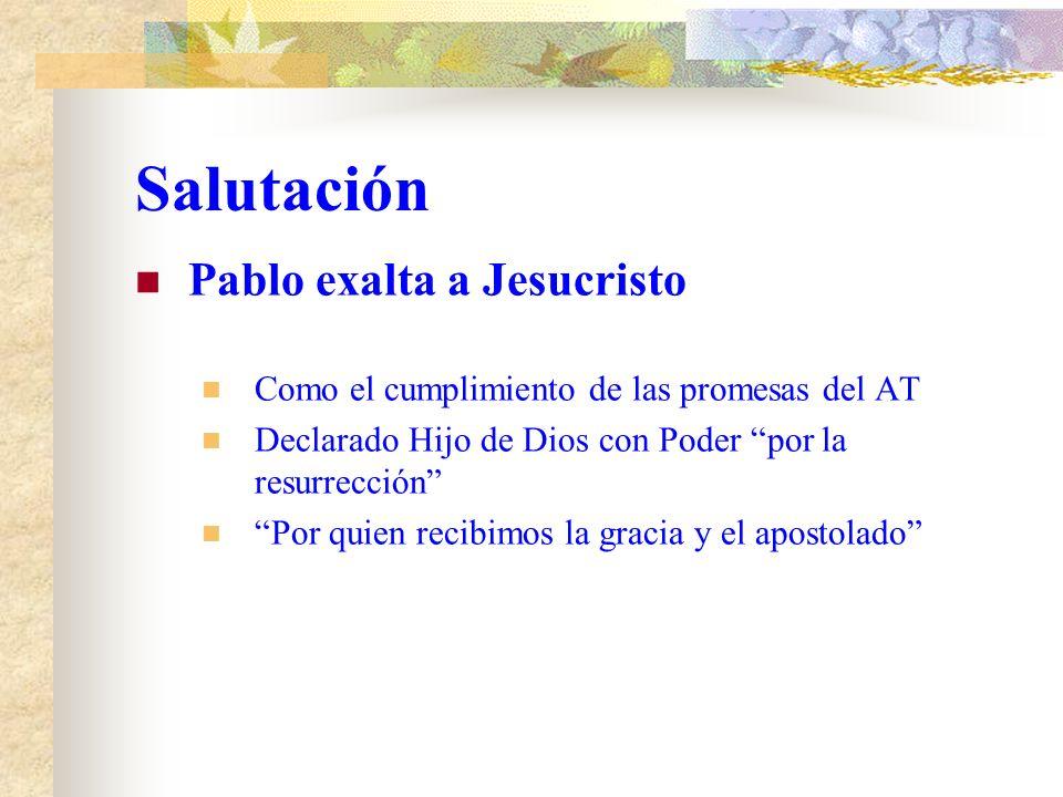 Salutación Pablo se Presenta a si mismo Pablo siervo de Jesucristo Llamado a ser Apóstol Apartado para el evangelio de Dios