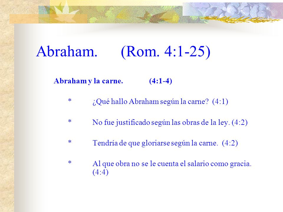 Capitulo 4 Abraham
