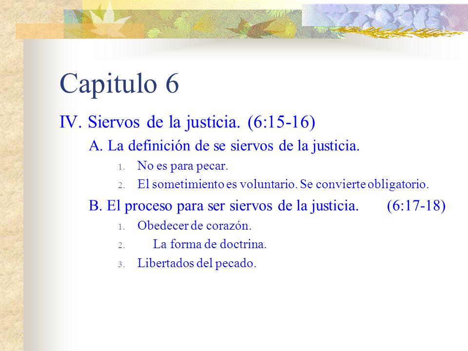 Capitulo 6 III. La muerte al pecado F. La muerte ya no se enseñoreara mas de Cristo. G. Así también vosotros consideraos muertos al pecado. (6:11) H.
