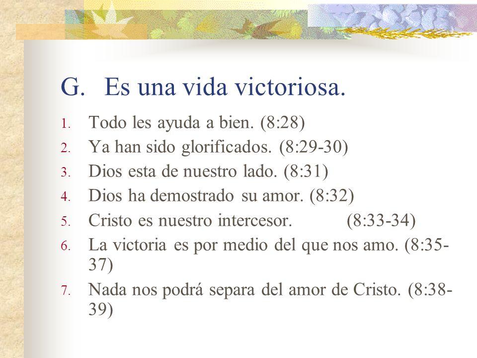 F.La realidad de la vida en el cuerpo. 1. Esperamos la redención de nuestro cuerpo. (8:23) 2. Porque en esperanza fuimos salvos. (8:24) 3. No sabemos