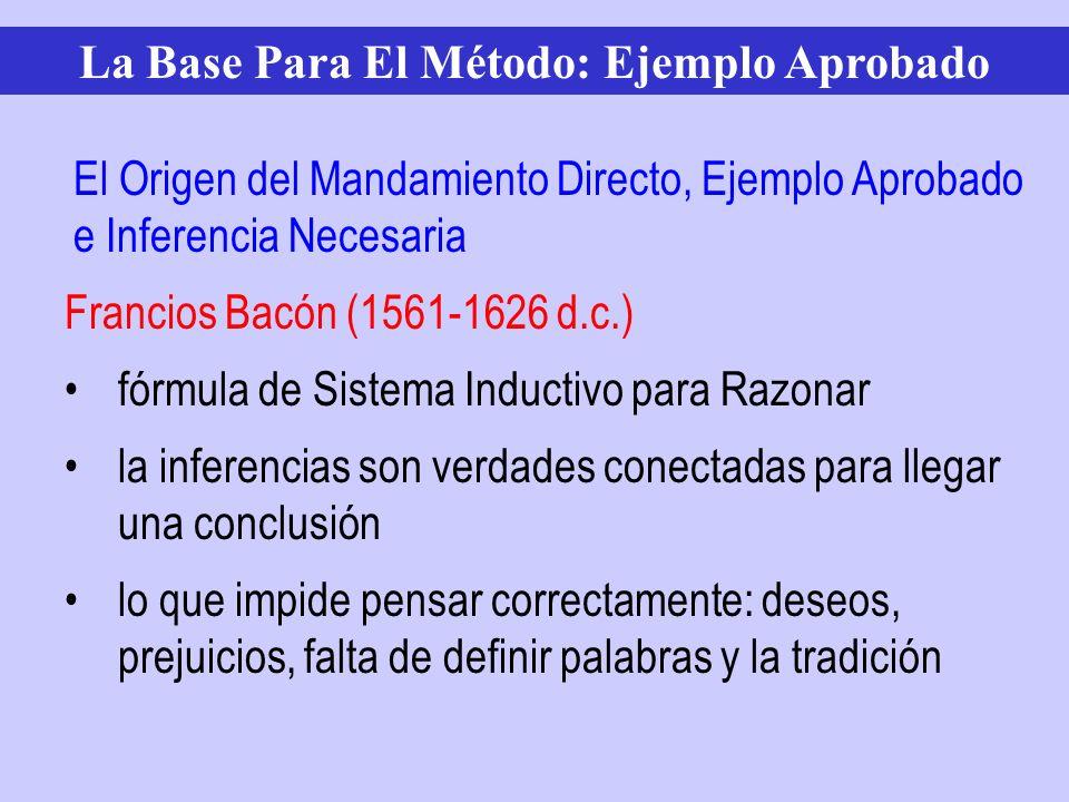 Francios Bacón (1561-1626 d.c.) fórmula de Sistema Inductivo para Razonar la inferencias son verdades conectadas para llegar una conclusión lo que imp