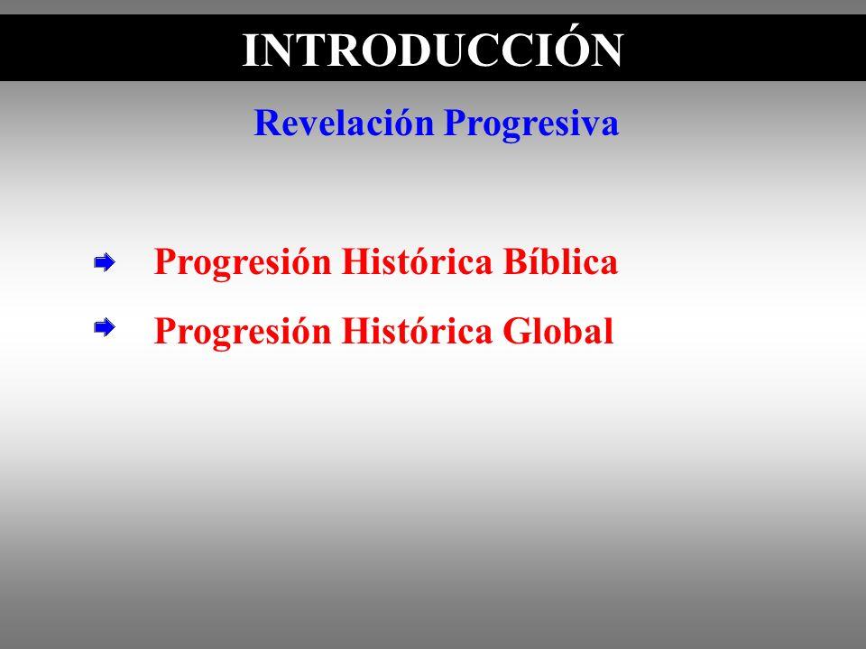 INTRODUCCIÓN Revelación Progresiva Progresión Histórica Bíblica Progresión Histórica Global