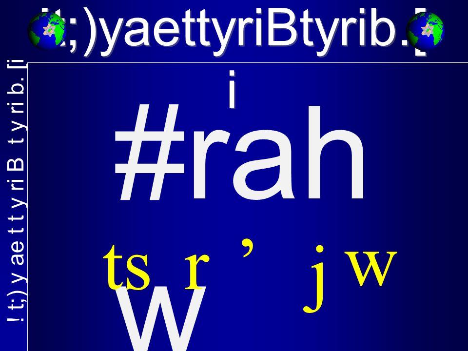 #rah w w j rts